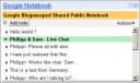 Google Notebook Multi-user Feature