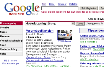 Google News in Scandinavia