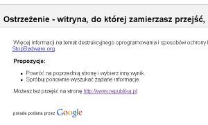 republika.pl w bazie StopBadware.org