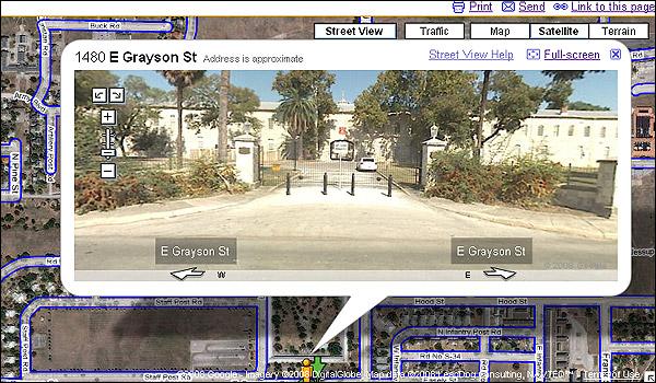 Pentagon na Street View Google Maps