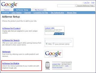 Google AdSense dla treści na telefon komórkowy